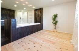 Bathrooms/Wellness - ZIRBEL-KIEFER gebuerstet weiss geoelt
