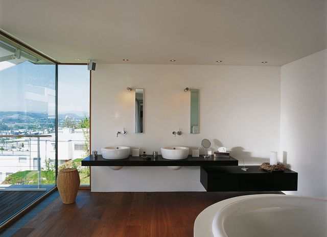 Bathrooms/Wellness - EICHE Vulcano gebuerstet natur geoelt
