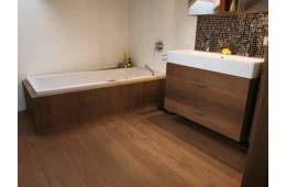 Bathrooms/Wellness - EICHE Vulcano gebuerstet weiss geoelt