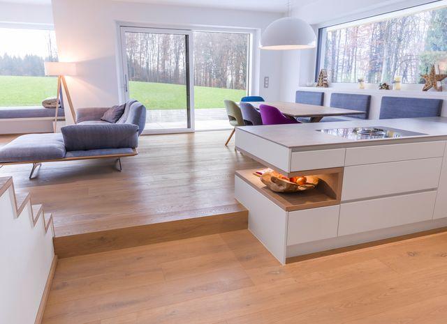 eiche sand breitdiele geb rstet weiss ge lt. Black Bedroom Furniture Sets. Home Design Ideas