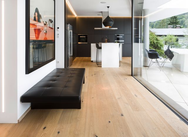 eiche country breitdiele geb rstet weiss ge lt. Black Bedroom Furniture Sets. Home Design Ideas