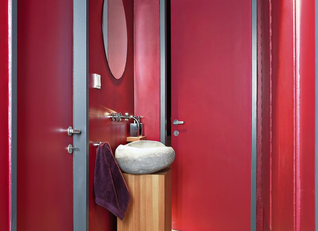 Bathrooms/Wellness - Domino LAERCHE Vulcano gebuerstet weiss geoelt